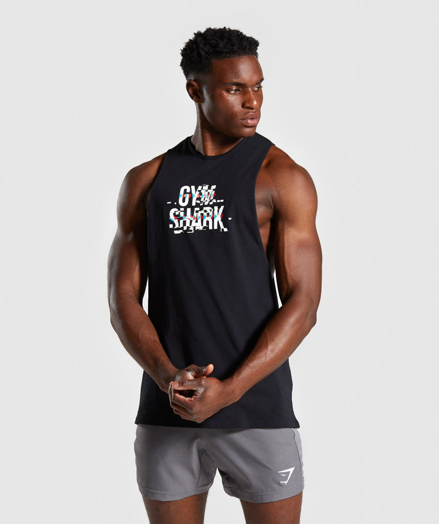 Gymshark Glitch Tank - Black 1