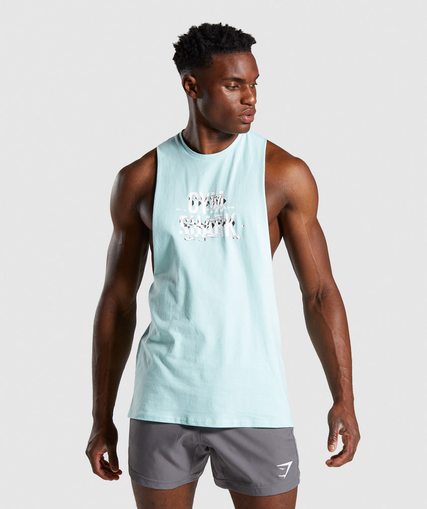 Gymshark Glitch Tank - Turquoise 1