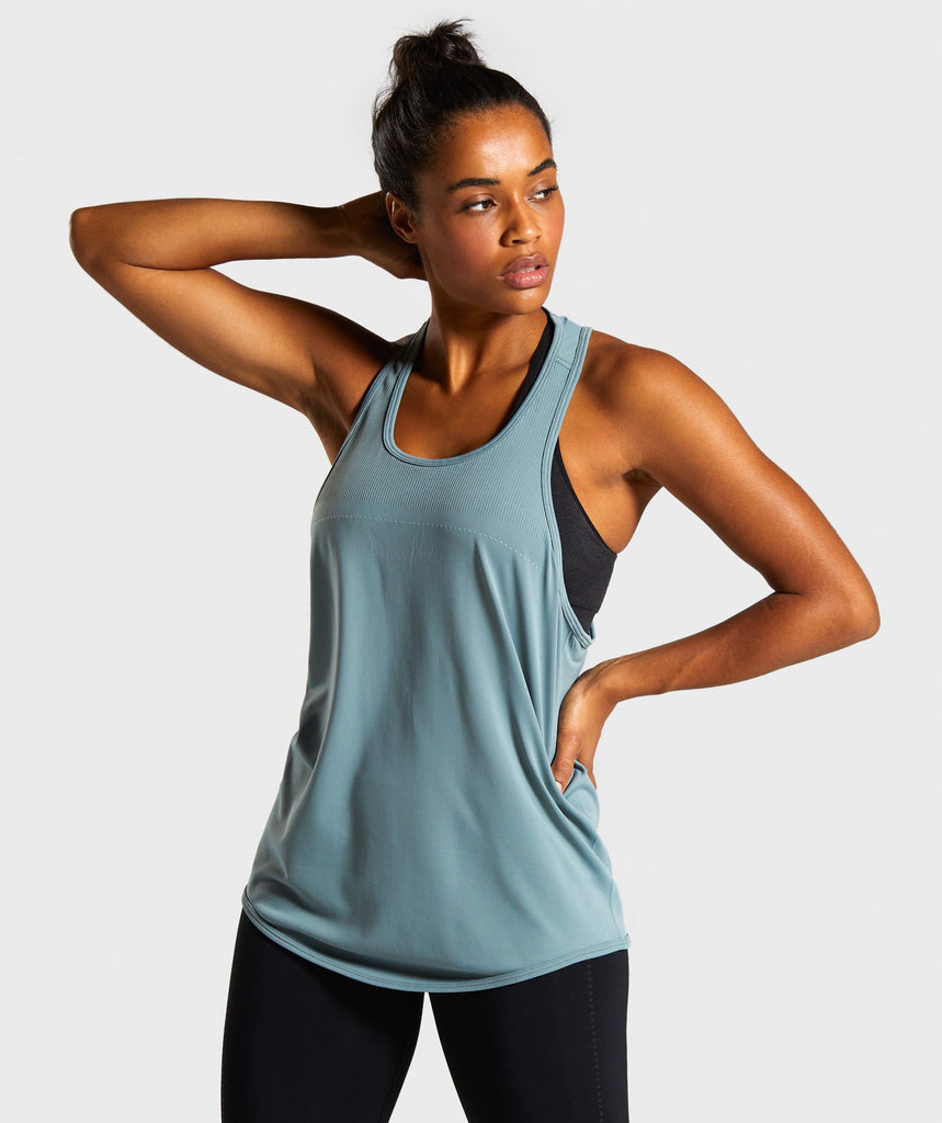 Gymshark Lightweight Seamless Vest - Turquoise 1