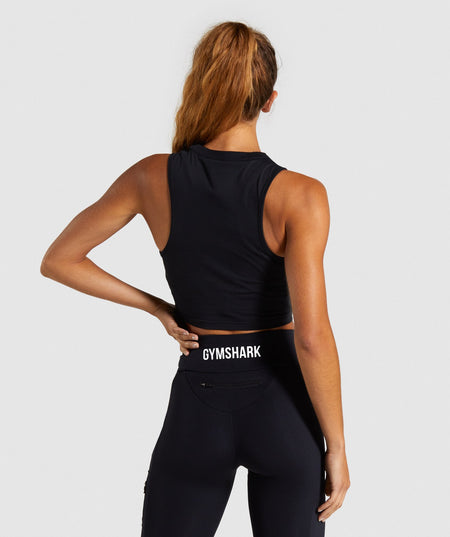 Gymshark Non Stop Crop Top - Black
