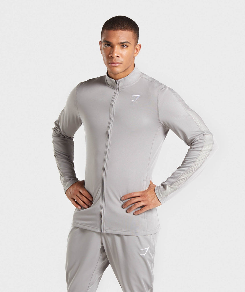 Gymshark React Training Track Top - Grey 1
