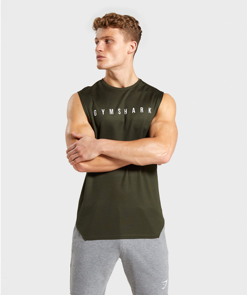 Gymshark Recharge Tank - Green 1