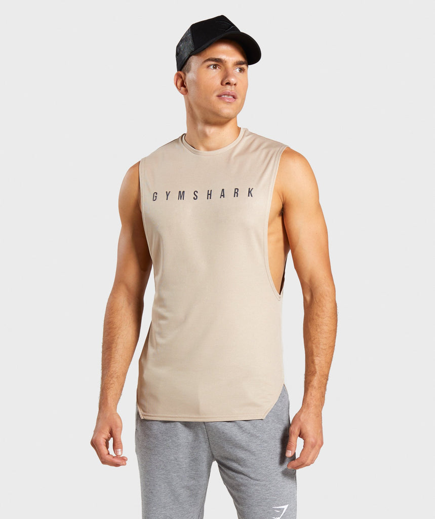 Gymshark Recharge Tank - Sand 1