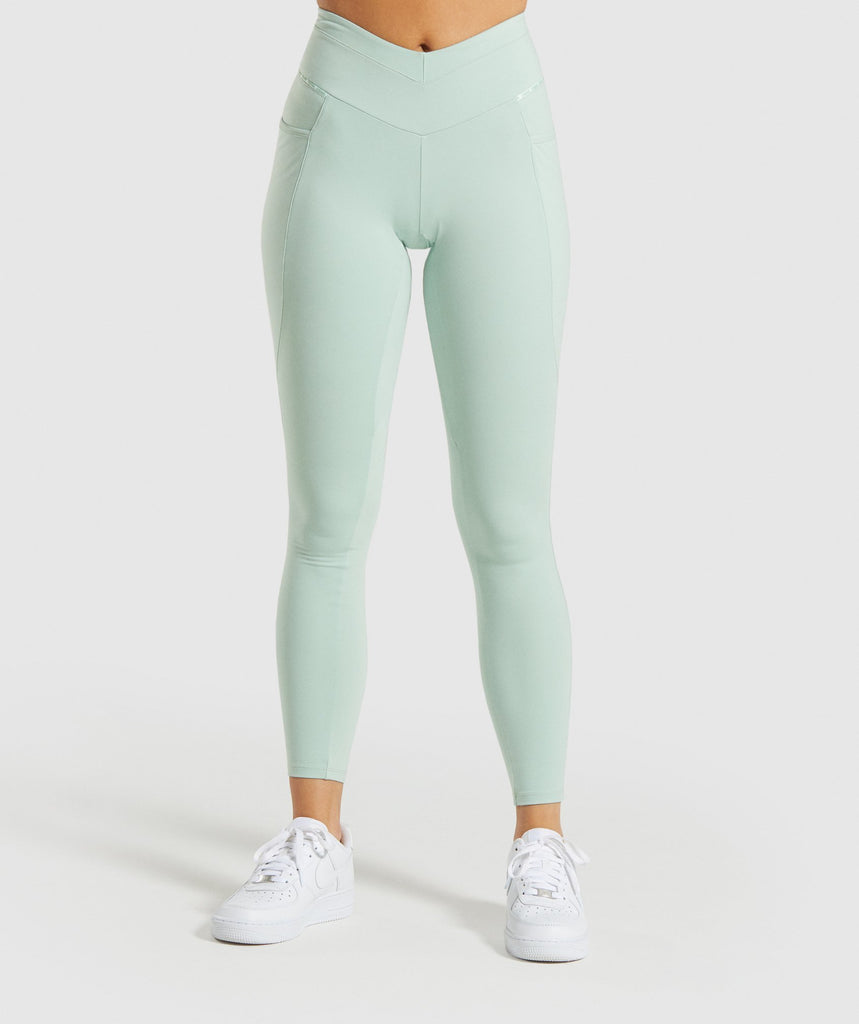 Gymshark Recess Leggings - Light Green 1