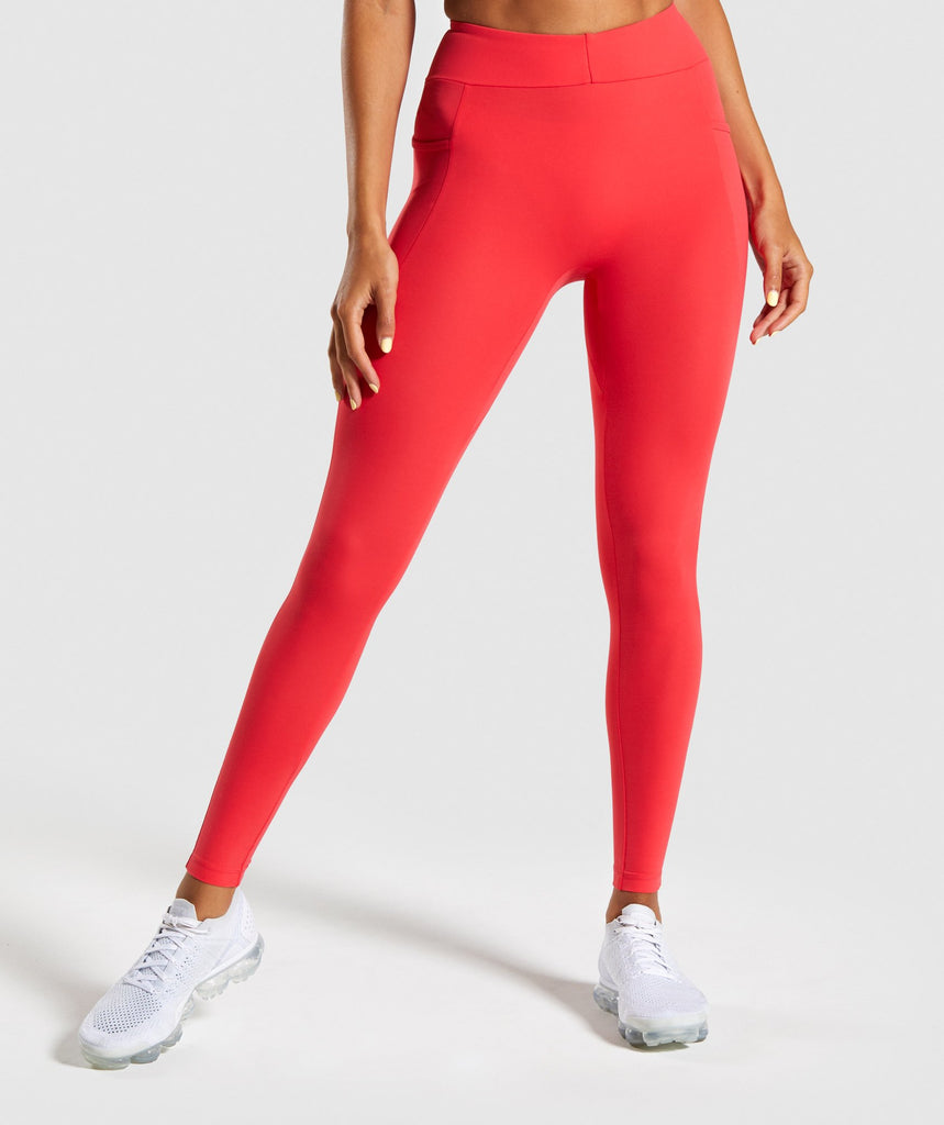 Gymshark Sculpt Leggings - Red 1