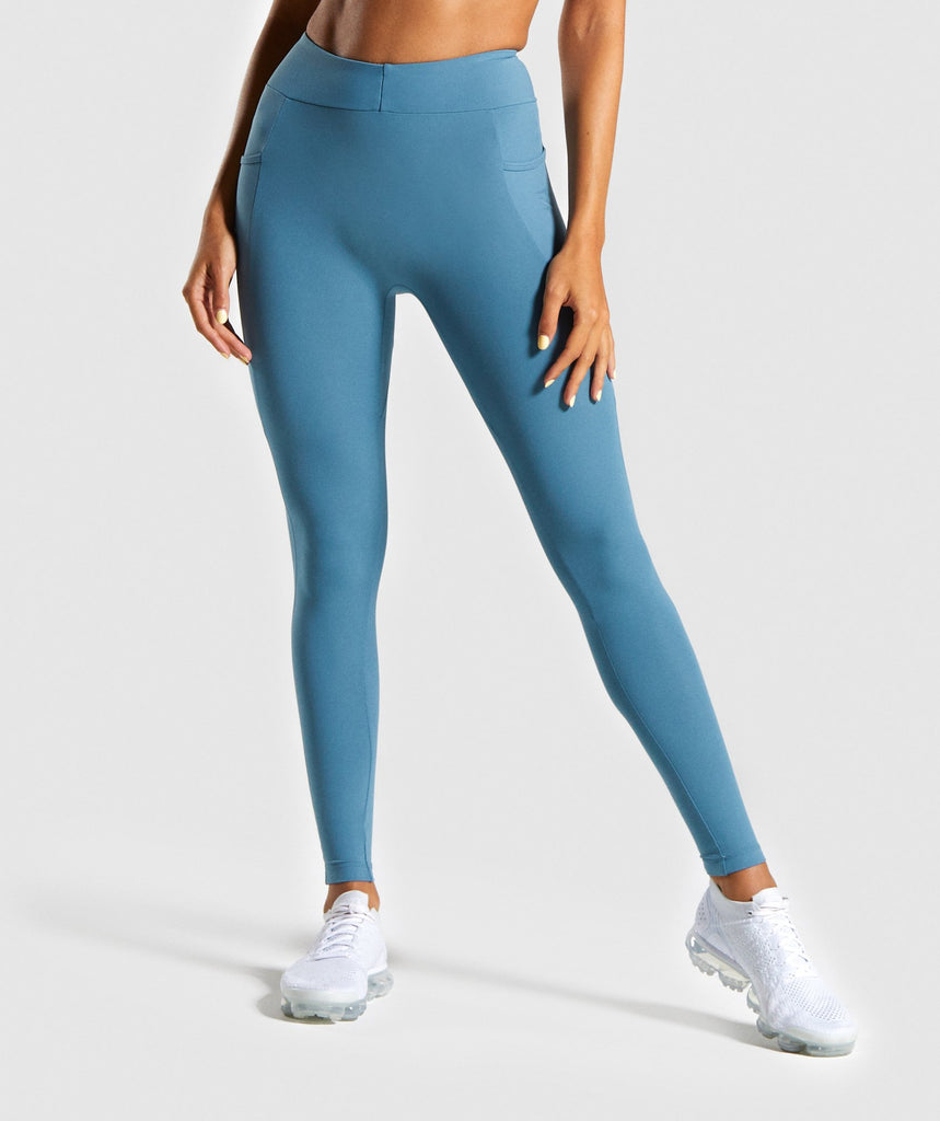 Gymshark Sculpt Leggings - Teal 1