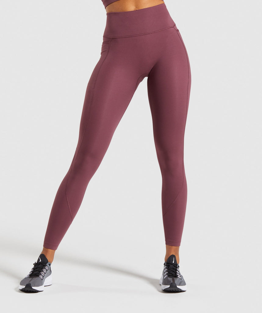 Gymshark Speed Leggings - Berry Red 1
