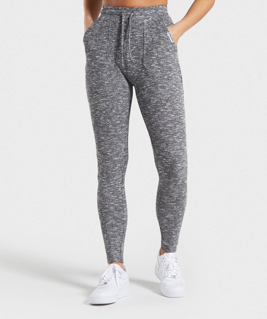 Gymshark Slounge Leggings - Black Marl 1