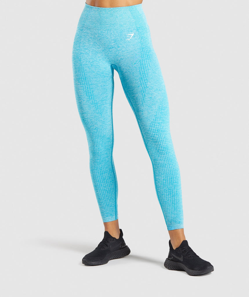 Gymshark Vital Seamless Leggings - Blue Marl 1