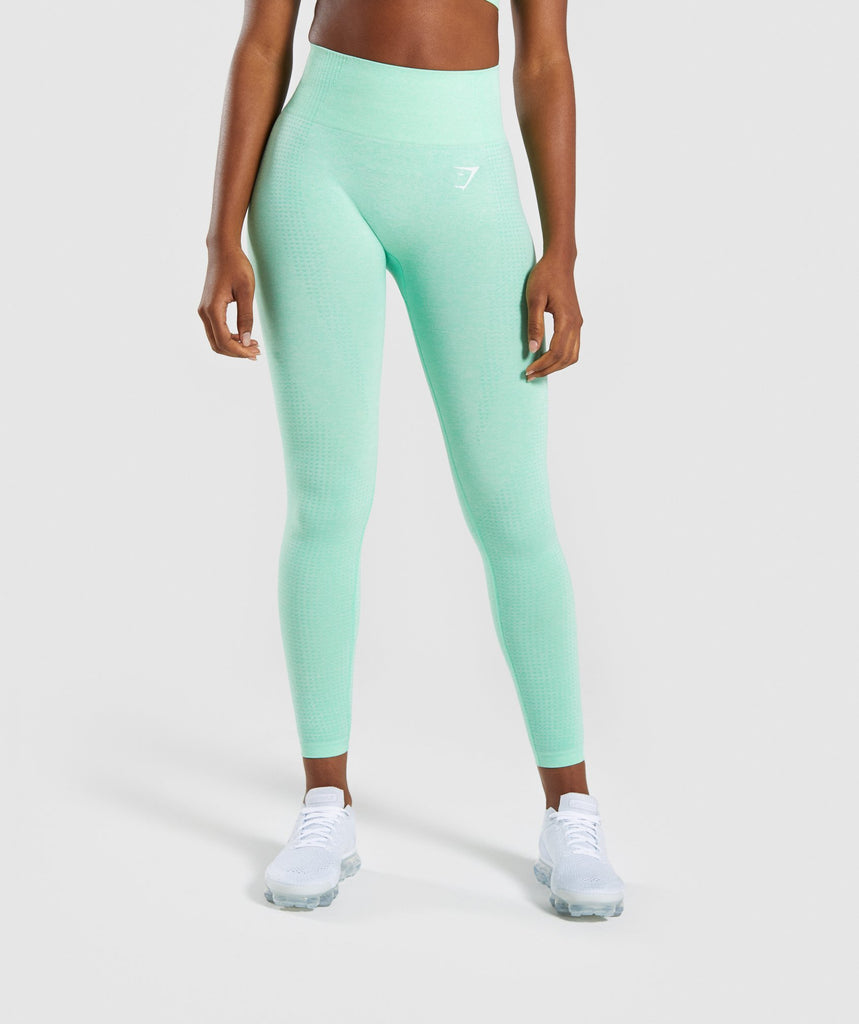 Gymshark Vital Seamless Leggings - Green 1