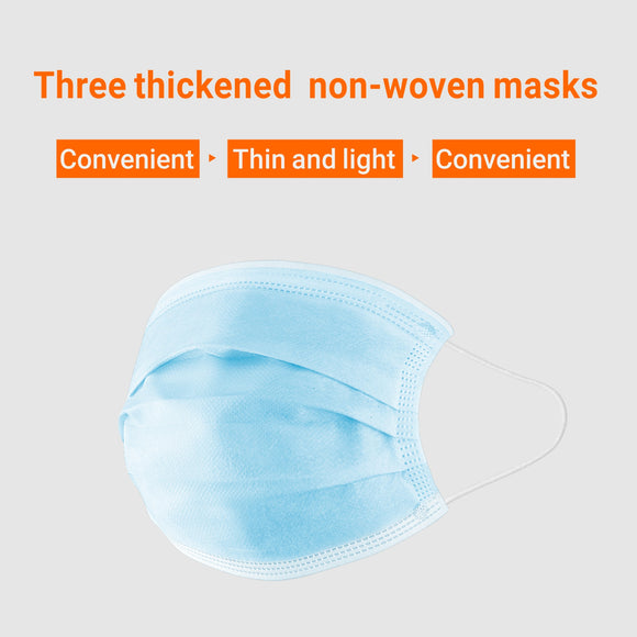 Disposable Non-woven Triple Layered Filter Dust-proof Antibacterial Protective Mask with Earloop Sealed Pack (Pack of 50)    iDaffodil  Masks   iDaffodil - Consumer Electronics at Affordable Prices