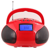 Refurbished - Mini Bluetooth MP3 Stereo System – Portable Radio with Powerful Bluetooth Speaker  Red  August  portable speakers   iDaffodil - Consumer Electronics at Affordable Prices