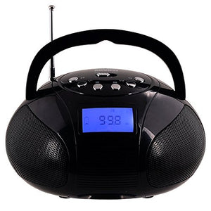 Mini Bluetooth MP3 Stereo System – Portable Radio with Powerful Bluetooth Speaker - August SE20  Black  August  portable speakers   iDaffodil - Consumer Electronics at Affordable Prices