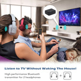 Dual Bluetooth V5.0 Headphone Transmitter Adapter for TV aptX HD August MR270-HD