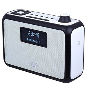 Refurbished - August DAB+ Clock Radio Bluetooth Speaker - DAB, FM or MP3 Music and Bring it with You    August  Digital Radios   iDaffodil - Consumer Electronics at Affordable Prices