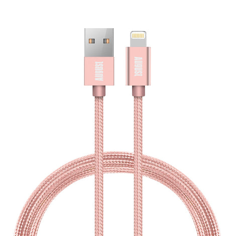 Lightning Cable TC11 - MFi Certified for iPhone X/8/8+/7/7+/6/6+/5S  Pink  August  Charging Cables   iDaffodil - Consumer Electronics at Affordable Prices