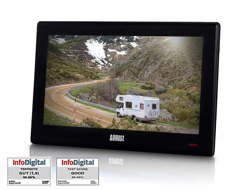 "Caravan TV / Camper Van TV / HGV Truck TV / Travel TV Pack - August DA100D 10"" Portable TV Freeview - 12/24V Power Plug + Carry Case Included    August  Portable Television   iDaffodil - Consumer Electronics at Affordable Prices"