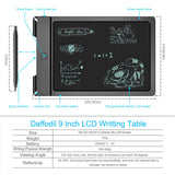 LCD Writing Tablet - 9 inch Digital Graphics Board with Double-Ended Writing Pencil    iDaffodil  Portable Television   iDaffodil - Consumer Electronics at Affordable Prices