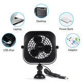 USB Suction Cup Desk Fan - Daffodil UFN110 - Stay Cool at your Desk on Hot Summer Days