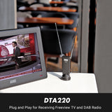 Freeview TV Aerial - Portable Indoor/Outdoor Digital Aerial for USB TV Tuner/DVB-T Television/DAB Radio - DTA220    August  TV Aerial   iDaffodil - Consumer Electronics at Affordable Prices