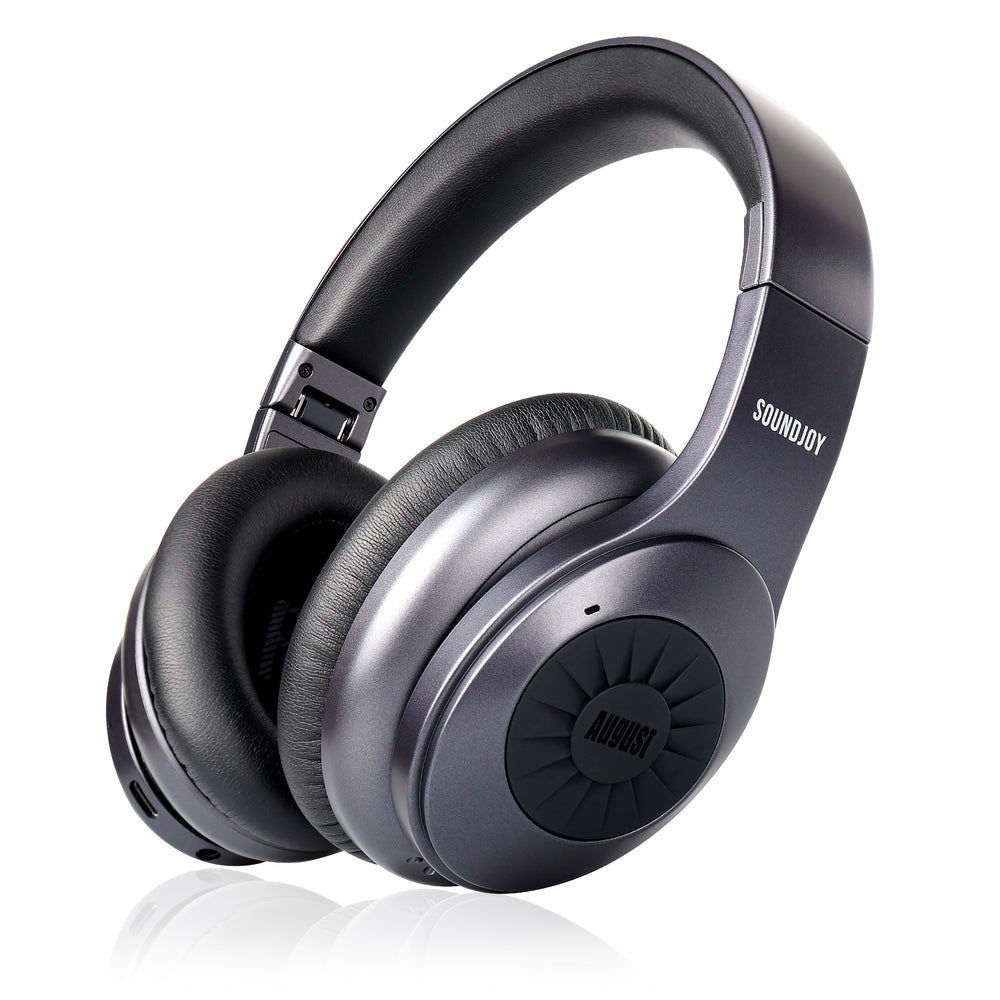 Refurbished Bluetooth v5.0 Wireless Headphones with ANC - August EP765 - Active Noise Cancelling + aptX