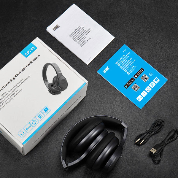 Bluetooth v5.0 Wireless Headphones with ANC - August EP765 - Active Noise Cancelling + aptX    August  Headphones   iDaffodil - Consumer Electronics at Affordable Prices