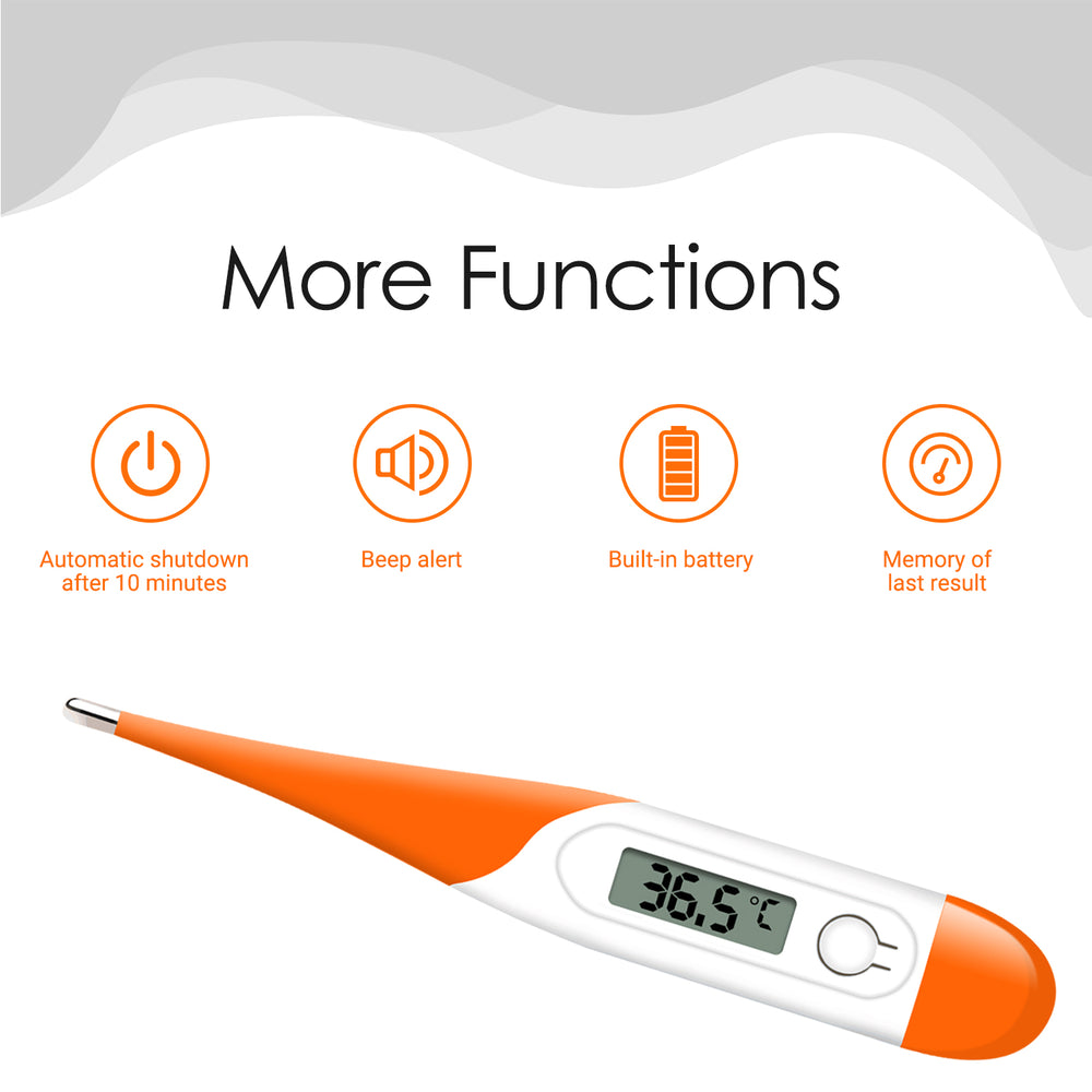 Digital Thermometer for Fever HPC400 - Temperature Orally, Underarm and Recta - Accurate and Mercury Free