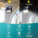 Outdoor Solar Motion Sensor Securiity Light, Shed, Fence- 46 LED Lights - LEC800