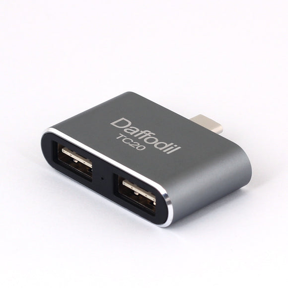 USB Type C OTG Adaptor - Type C to Dual Standard Type A USB 2.0 - Daffodil TC20    iDaffodil  Phone Accessories   iDaffodil - Consumer Electronics at Affordable Prices