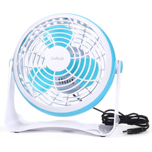 "6"" USB Desk Fan – Daffodil UFN140 - Stay Cool at your Desk on Hot Summer Days  White & Blue  iDaffodil  Fans   iDaffodil - Consumer Electronics at Affordable Prices"