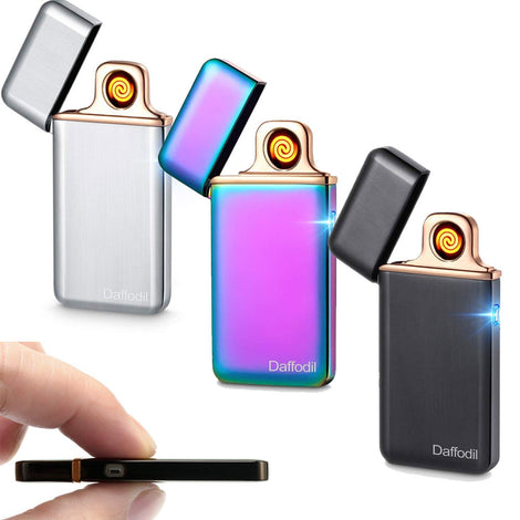 Slim Electronic Cigarette Lighter EC220 - USB Rechargeable Electronic Windproof Cigarette Lighter