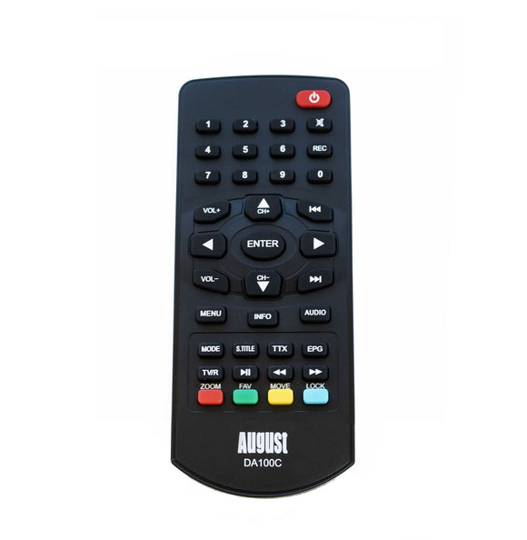August RM100C – Remote control Portable TV DA100C and DA900C - Replacement Remote control    August  Remote Controls   iDaffodil - Consumer Electronics at Affordable Prices