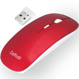 3 Button Wireless Mouse - Slimline PC and MAC Compatible Mouse with Srollwheel and Adjustable DPI  Red  iDaffodil  Computer Mouse   iDaffodil - Consumer Electronics at Affordable Prices