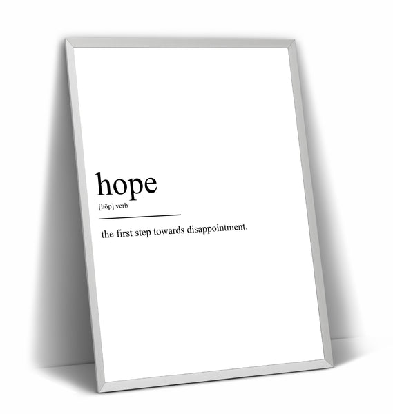 Hope Definition Print V2 - Magic Posters