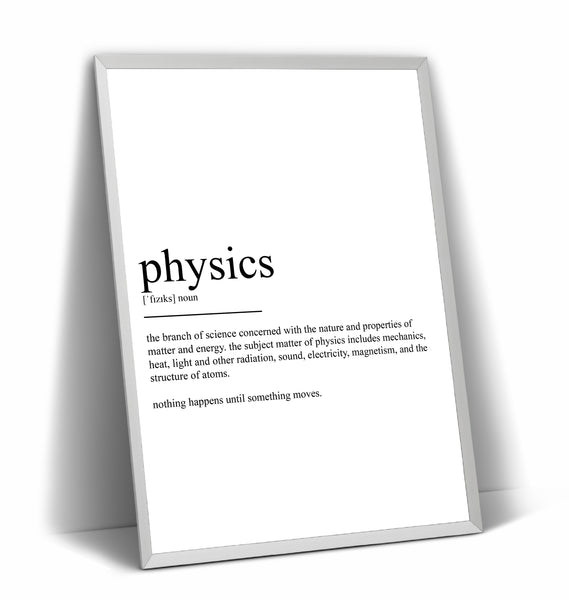 Physics Definition Print - Magic Posters
