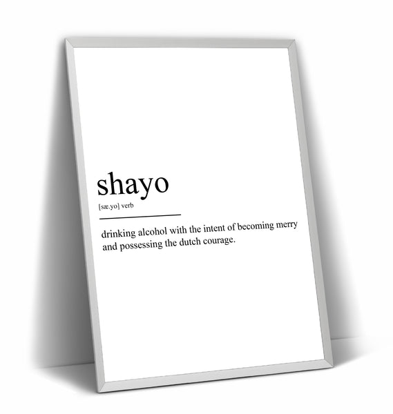 Shayo Definition Print - Magic Posters