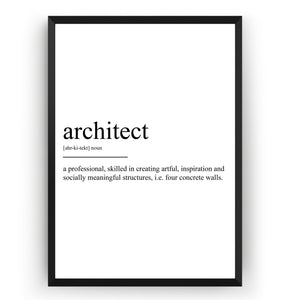 Architect Definition Print - Magic Posters