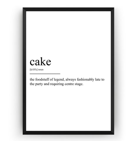 Cake Definition Print