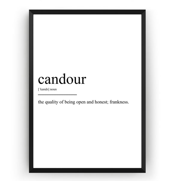 Candour Definition Print - Magic Posters