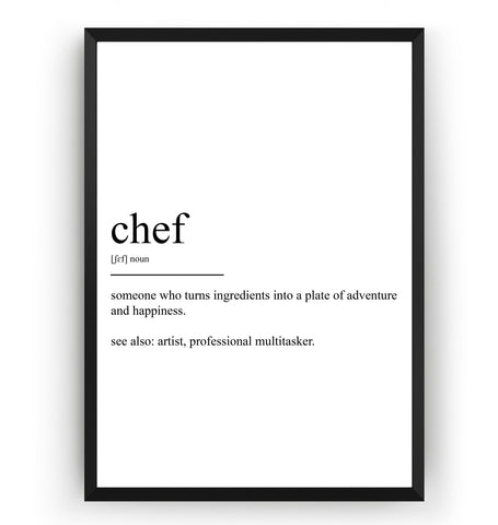 Chef Definition Print