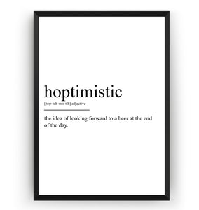Hoptimistic Definition Print V2 - Magic Posters
