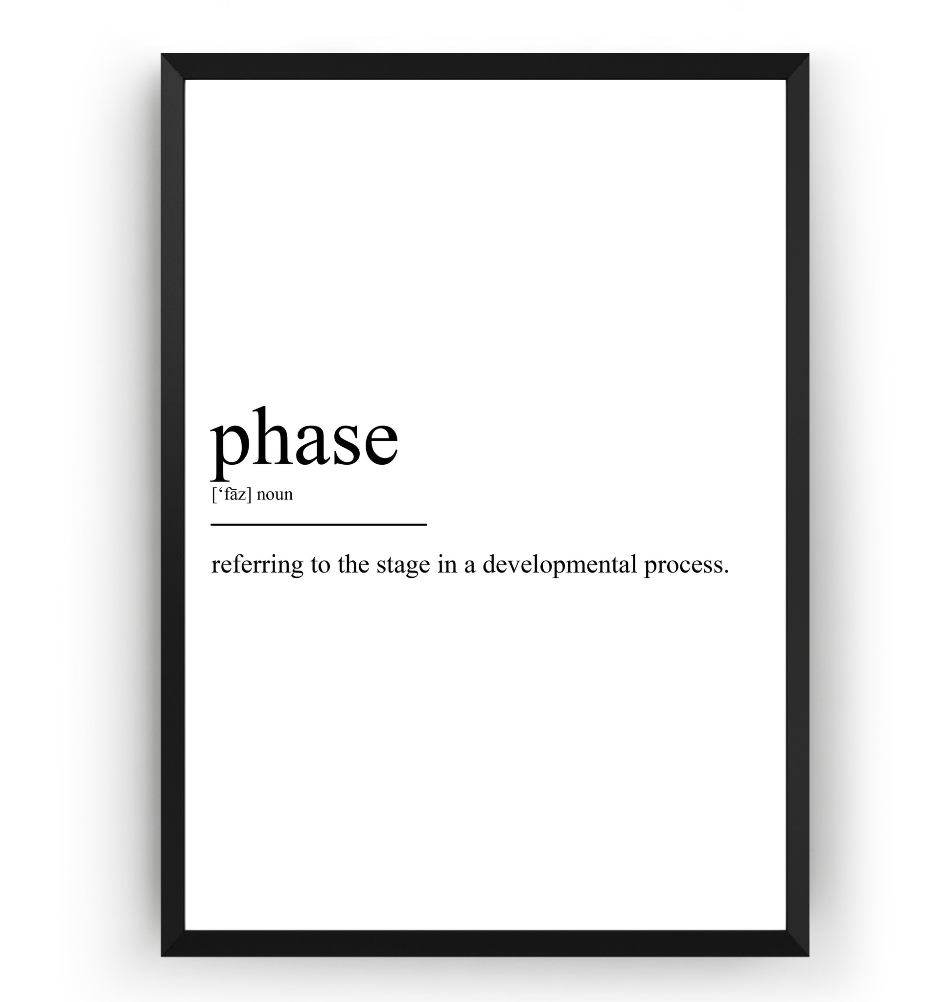 Phase Definition Print - Magic Posters