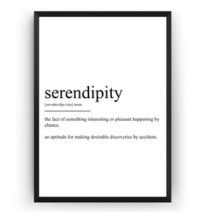 Serendipity Definition Print