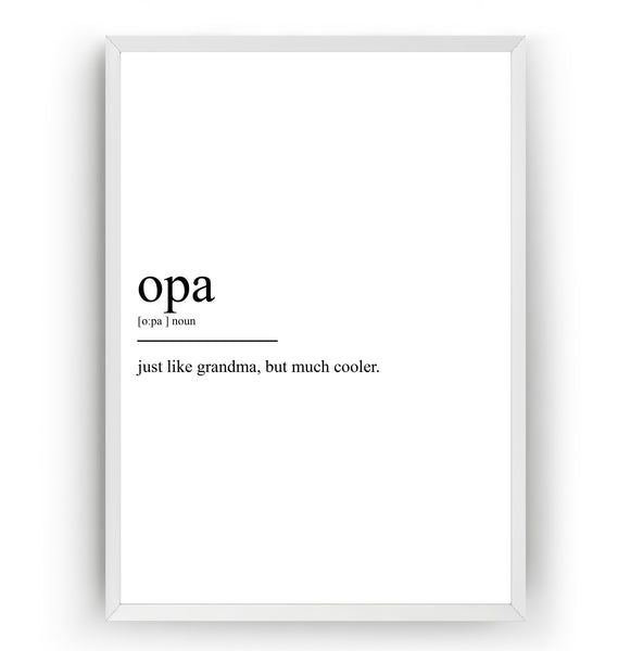 Opa Definition Print - Magic Posters