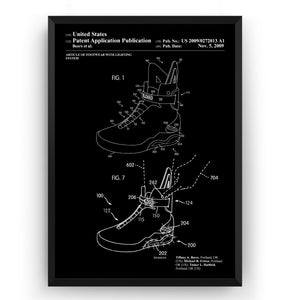 Back To The Future Nike MAG Sneakers 1998 Patent Print - Magic Posters