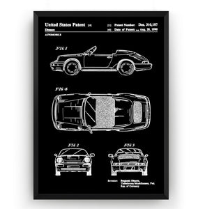 Porsche 911 Convertible 1990 Patent Print - Magic Posters