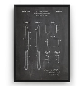 Butter Knife 1951 Patent Print