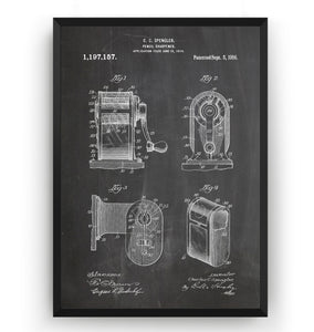 Pencil Sharpener 1914 Patent Print
