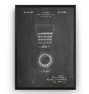 Whiskey Glass 1939 Patent Print