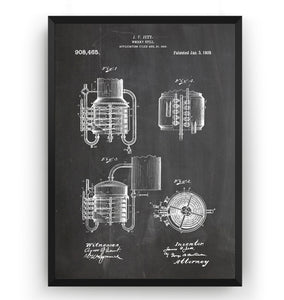 Whiskey Still 1909 Patent Print